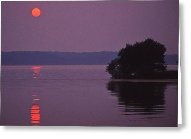 Land-between-the-lakes Sunset - 1 Greeting Card by Randy Muir