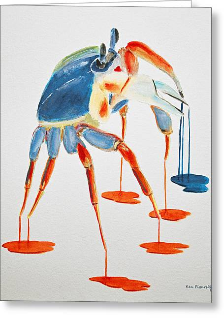 Land Crab Fight Stance Greeting Card