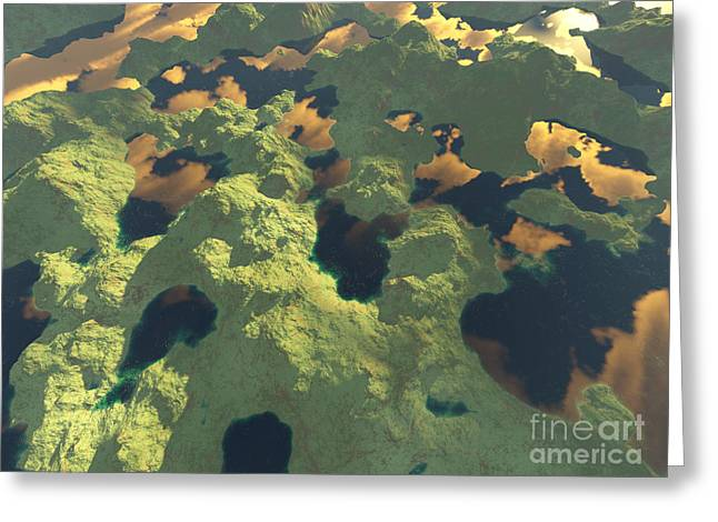 Land Of A Thousand Lakes II Greeting Card by Gaspar Avila