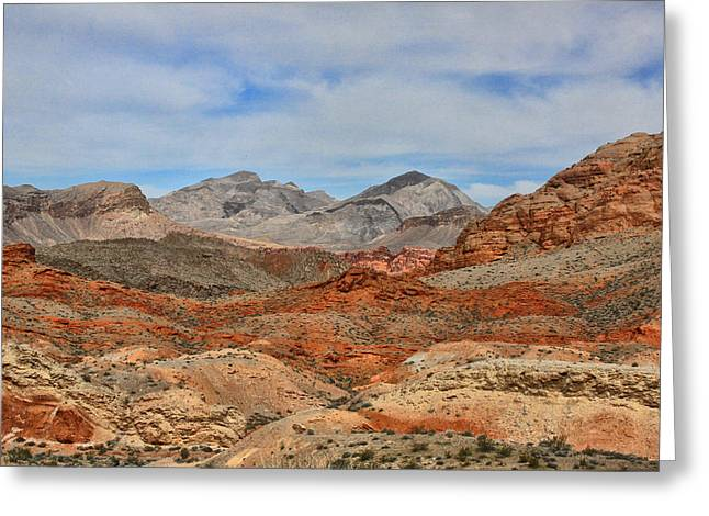 Greeting Card featuring the photograph Land Of Fire by Tammy Espino