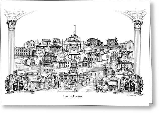 Land Of Lincoln Greeting Card by Dennis Bivens