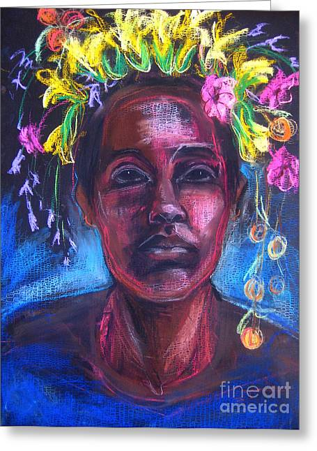 Native American Spirit Portrait Greeting Cards - Land of Plenty Greeting Card by Gabrielle Wilson-Sealy