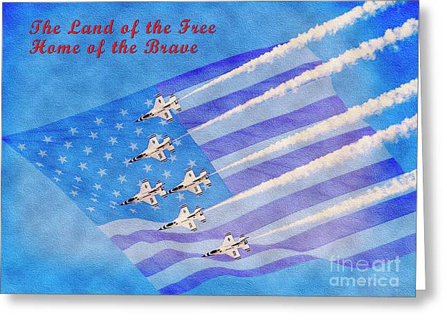 Land Of The Free Home Of The Brave Greeting Card