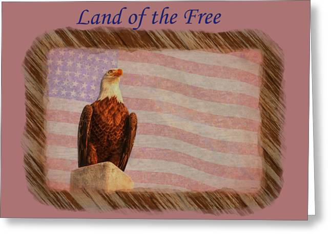 Land Of The Free Greeting Card by John M Bailey