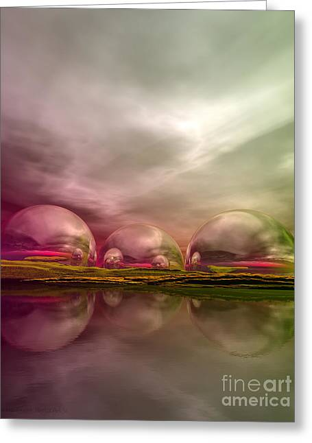 Greeting Card featuring the digital art Land Of The Lost by Sandra Bauser Digital Art