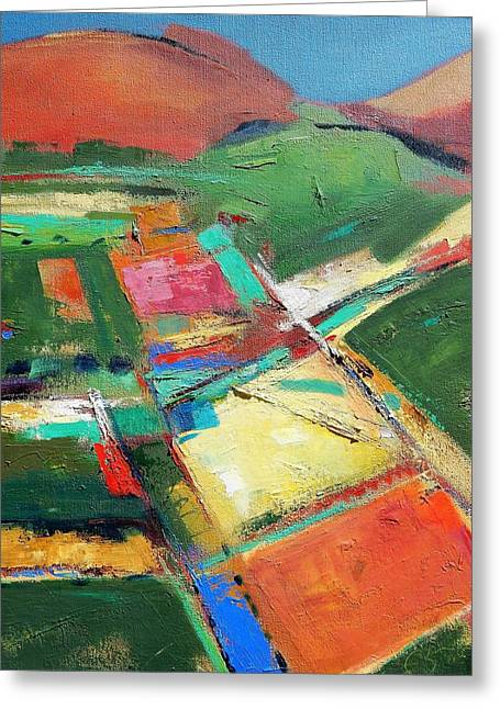 Land Patches Greeting Card