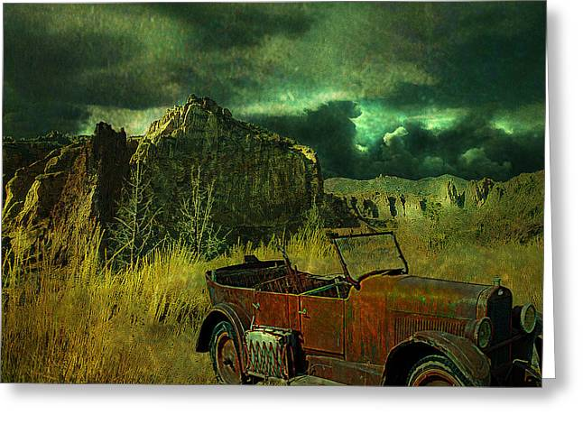 Land Rover Greeting Card by Jeff Burgess