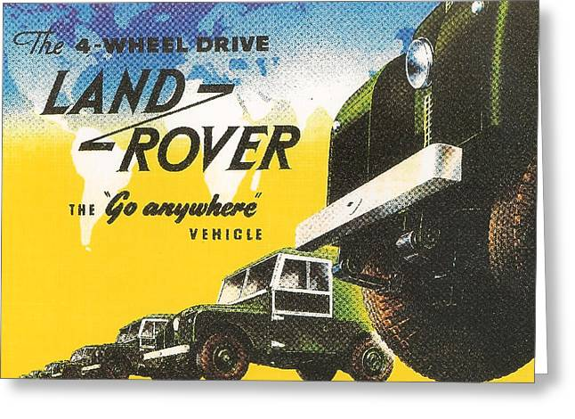 Land Rover Greeting Card by Georgia Fowler