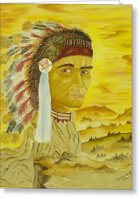 Land Warrior Greeting Card by Ron Sargent