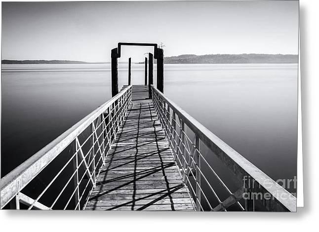 Landing Dock Greeting Card