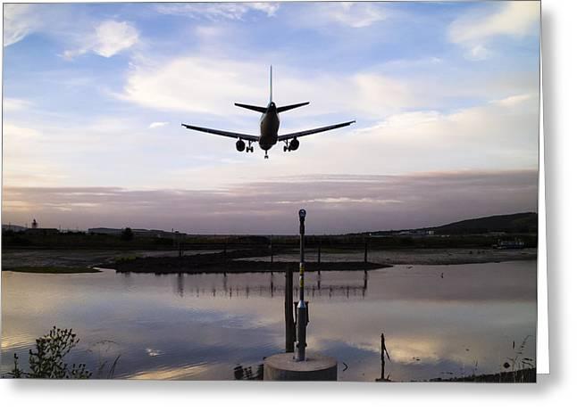 Landing In George Best Greeting Card