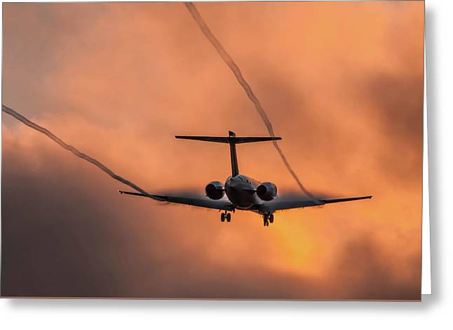 Greeting Card featuring the photograph Landing In L.a. by April Reppucci