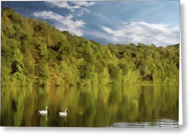 Greeting Card featuring the photograph Landingville Lake Pennsylvania by David Dehner