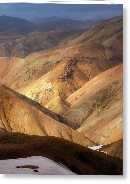 Landmannalaugar Greeting Card by Tor-Ivar Naess