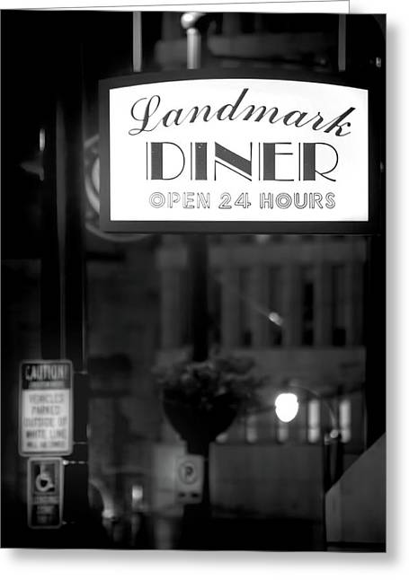 Landmark Diner Greeting Card