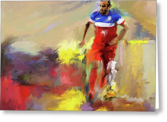 Landon Donovan 545 1 Greeting Card by Mawra Tahreem