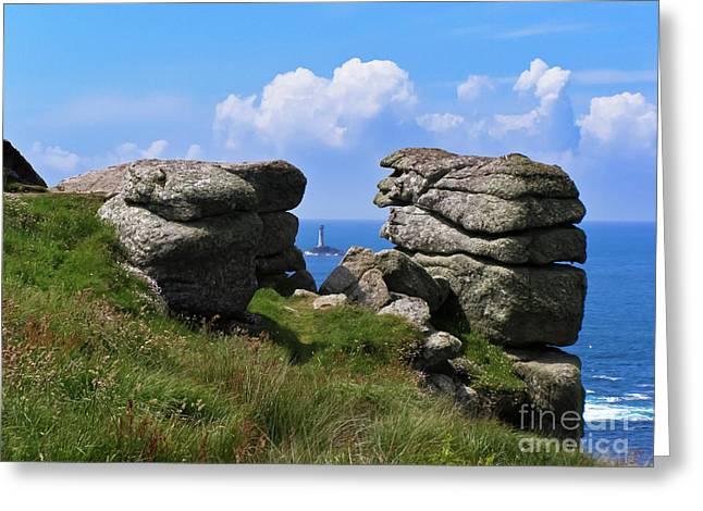 Land's End Rocks Greeting Card by Terri Waters