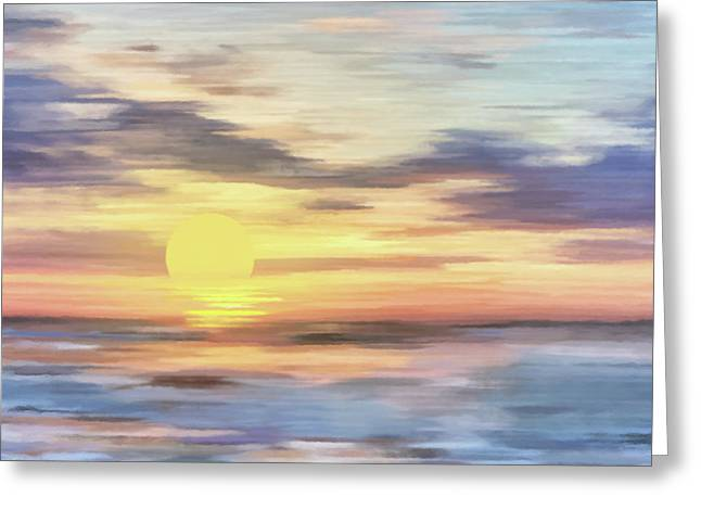 Lands Where Corals Lie Abstract Realism Greeting Card