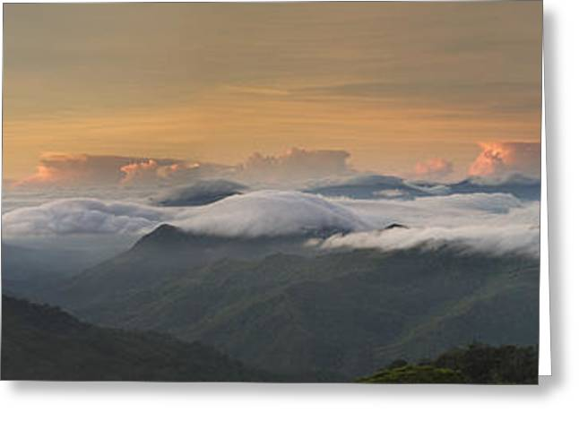Greeting Card featuring the photograph Landscape - Panorama View by Ng Hock How