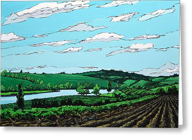 Greeting Card featuring the painting Landscape 108 by John Gibbs