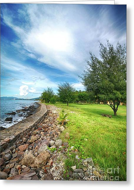 Greeting Card featuring the photograph Landscape 2 by Charuhas Images