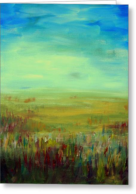 Landscape Abstract Greeting Card by Julie Lueders