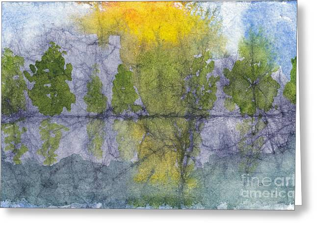 Landscape Reflection Abstraction On Masa Paper Greeting Card