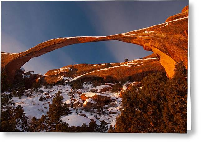 Landscape Arch Sunrise Greeting Card