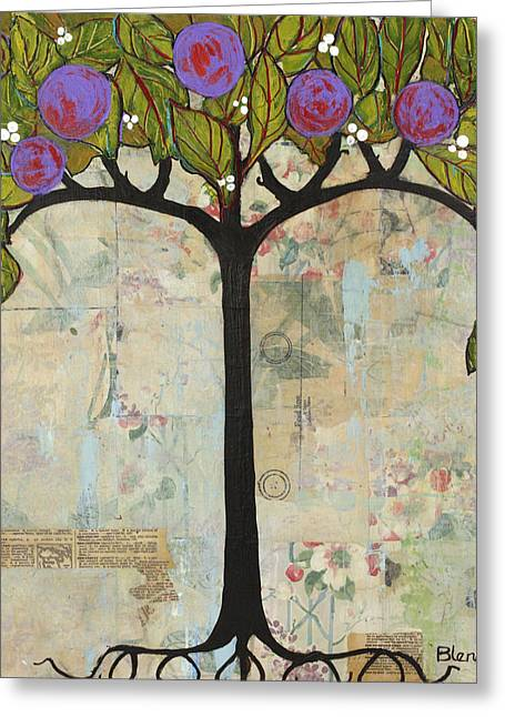 Landscape Art Tree Painting Past Visions Greeting Card