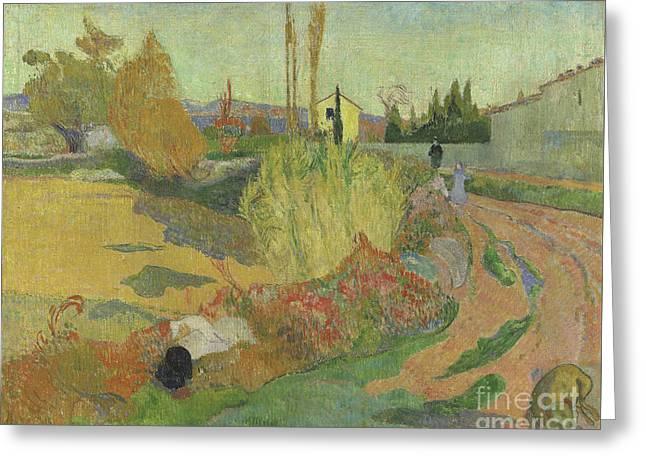 Landscape At Arles, 1888 Greeting Card