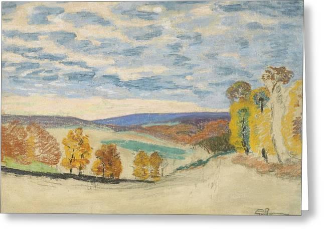 Landscape At Crozant Greeting Card