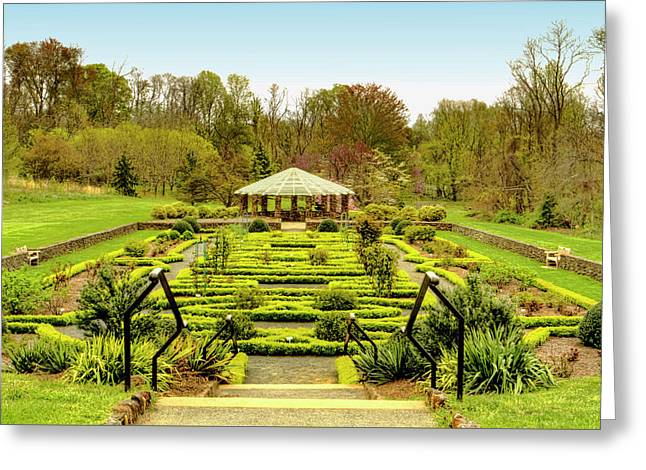 Landscape At Deep Cut Gardens Middletown New Jersey Greeting Card by Geraldine Scull