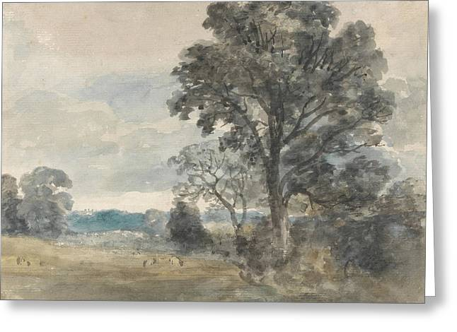 Landscape At East Bergholt Greeting Card by John Constable