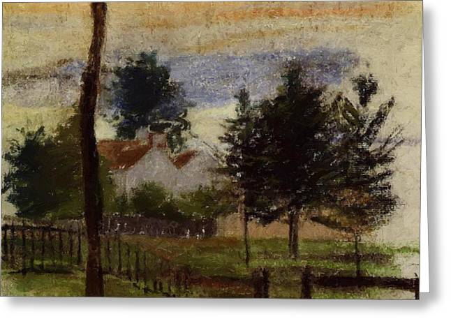 Landscape At Louveciennes Greeting Card
