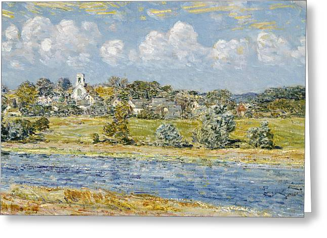 Landscape At Newfields, New Hampshire Greeting Card