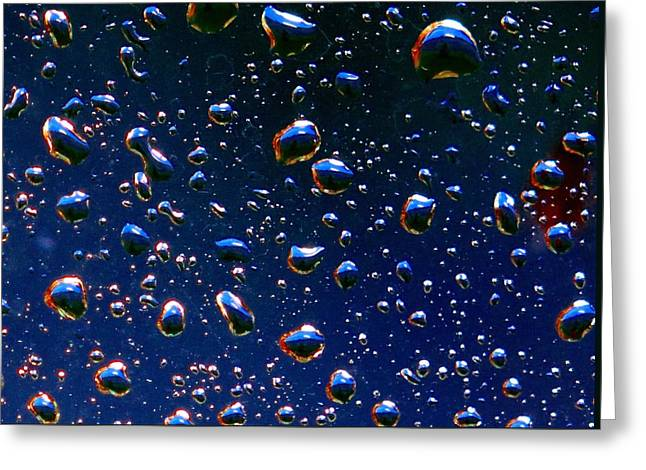 Landscape Bubbles Greeting Card by Marianne Dow