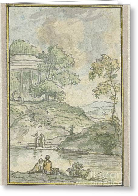 Landscape By The Lake Greeting Card