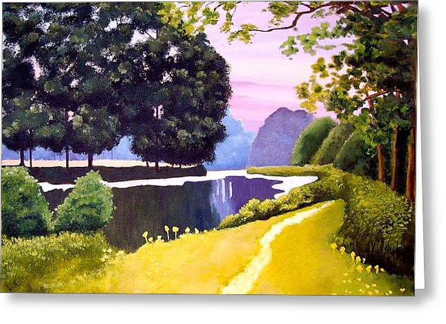 Landscape  Greeting Card by Carola Ann-Margret Forsberg