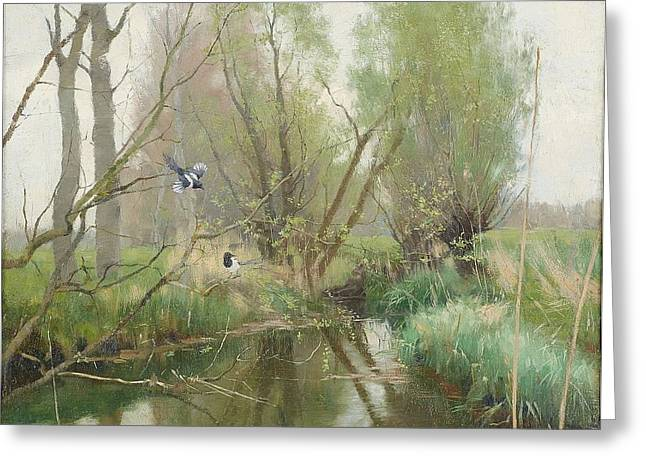 Landscape From Grez Greeting Card by MotionAge Designs