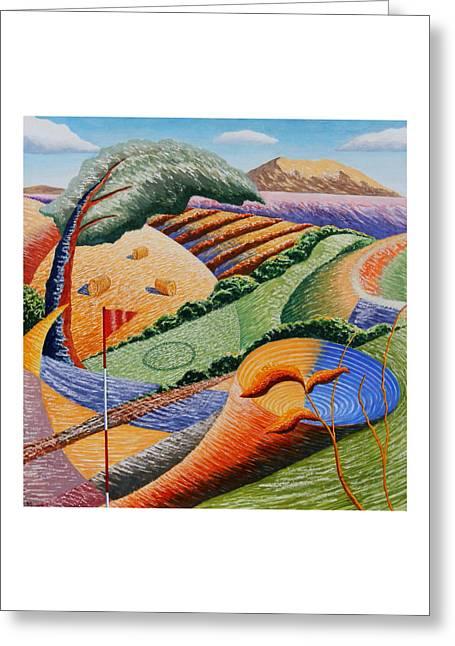 Landscape Funnel Greeting Card by Adrian Jones