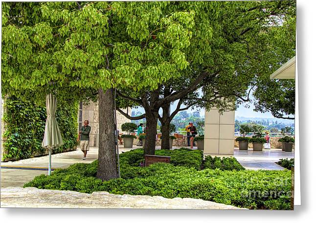 Landscape Getty Museum Center Court  Greeting Card