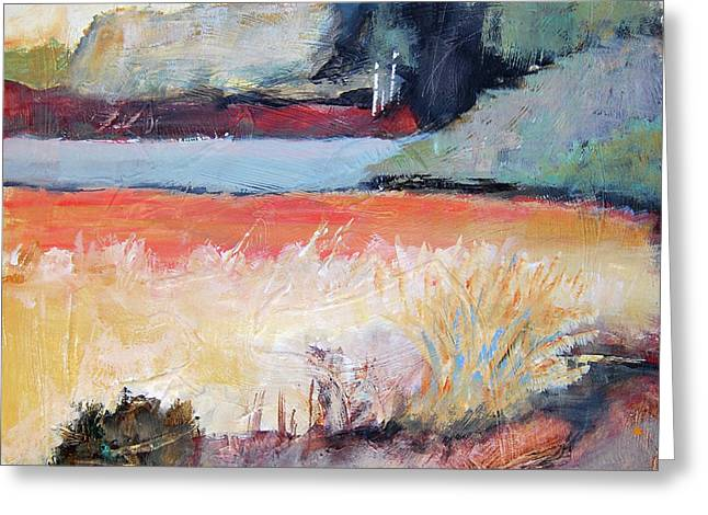 Landscape In Abstraction Greeting Card by Ron Stephens