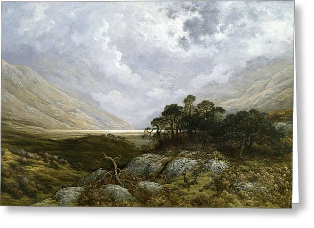 Landscape In Scotland Greeting Card by Gustave Dore
