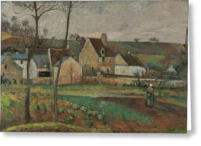 Landscape In The Hermitage Greeting Card by Camille Pissarro