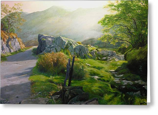Landscape In Wales Greeting Card by Harry Robertson