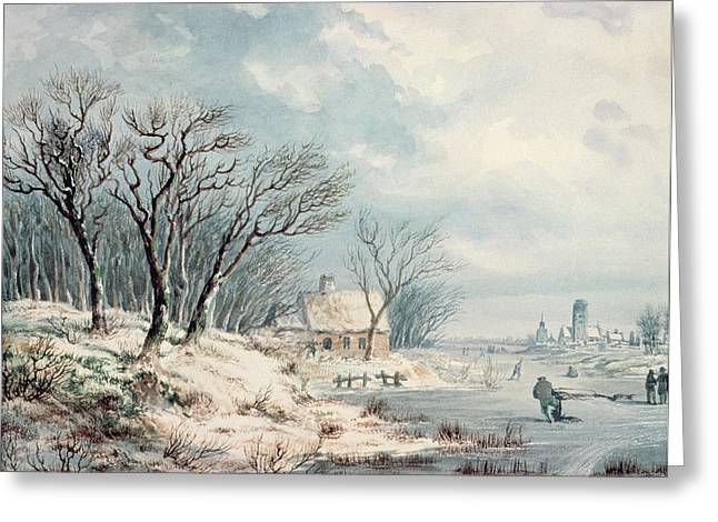 Landscape In Winter Greeting Card