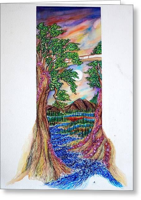 Landscape Greeting Card by Joseph Lawrence Vasile