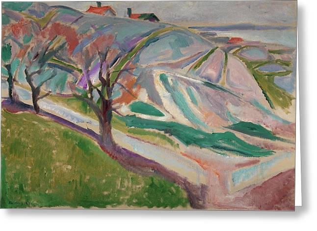 Landscape, Kragero Greeting Card