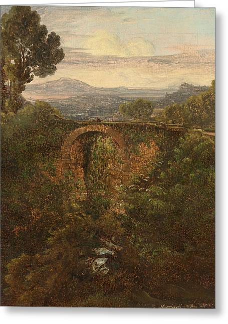 Landscape Near Narni Greeting Card by Celestial Images