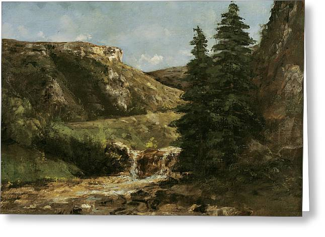 Landscape Near Ornans Greeting Card by Gustave Courbet
